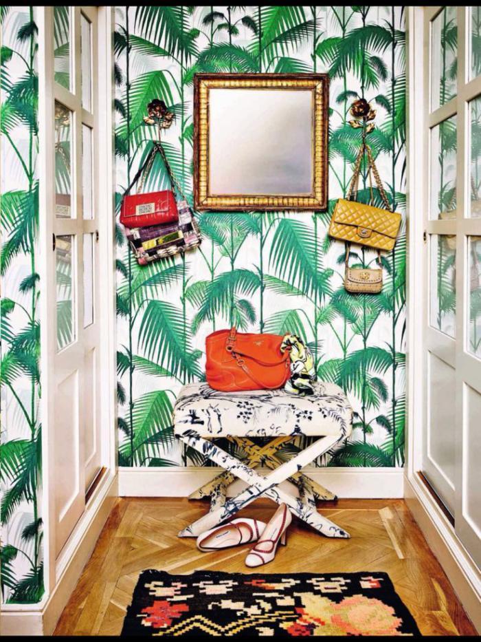 papier-peint-de-couloir-plantes-tropicales