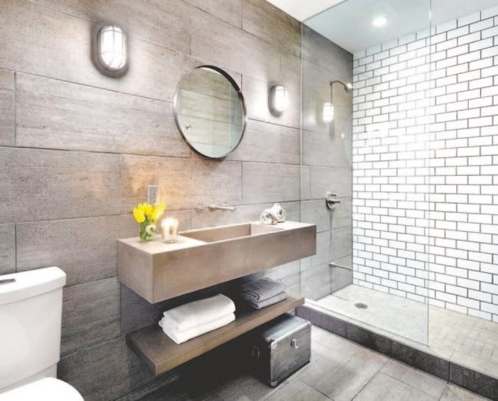 Le carrelage salle de bain quelles sont les meilleures id es - Idee carrelage petite salle de bain ...