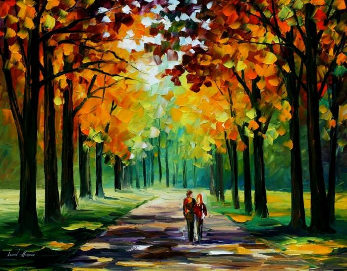 peinture-impressioniste-tableau-autumne-landscape-desktop-idée-tableau-jolie
