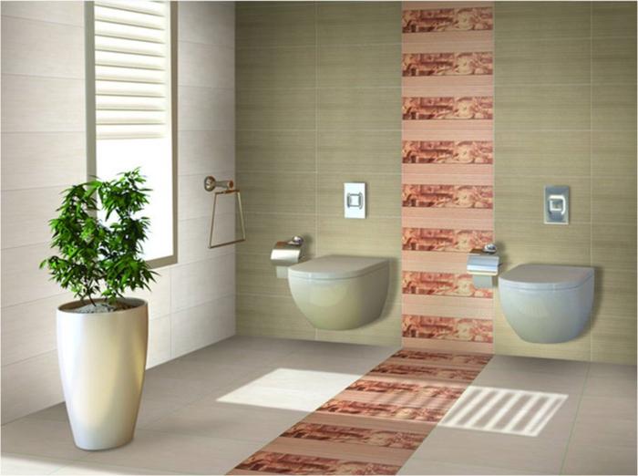 peinture-pour-carrelage-salle-de-bain-idée-originale-chemin-orange