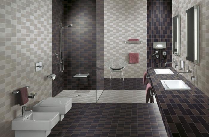 peinture-pour-carrelage-salle-de-bain-idée-originale-toilettes-douche-meuble-deux-vasques-avec-carrelage