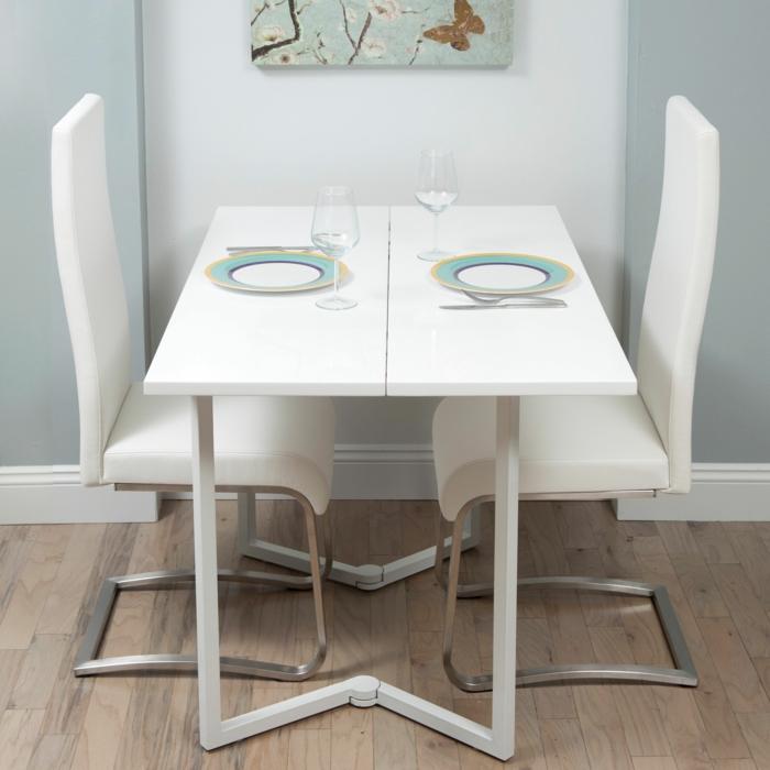 La Table De Cuisine Pliante Idées Pour Sauver Despace - Table bar pour petite cuisine pour idees de deco de cuisine