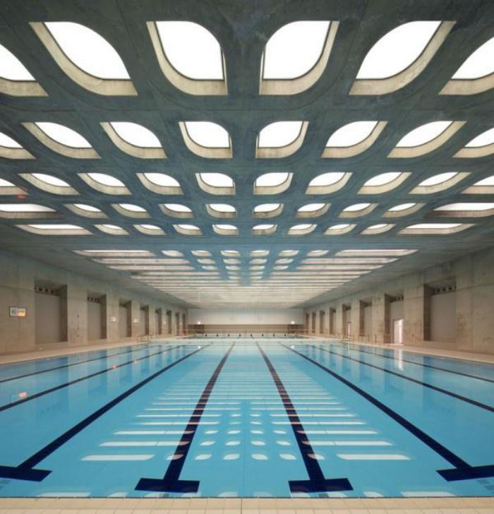 piscine-olympique-en-Londres-architecture-unique-du-toit