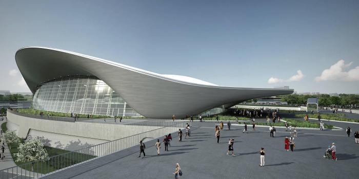 piscine-olympique-l'architecture-du-parc-aquatique-moderne