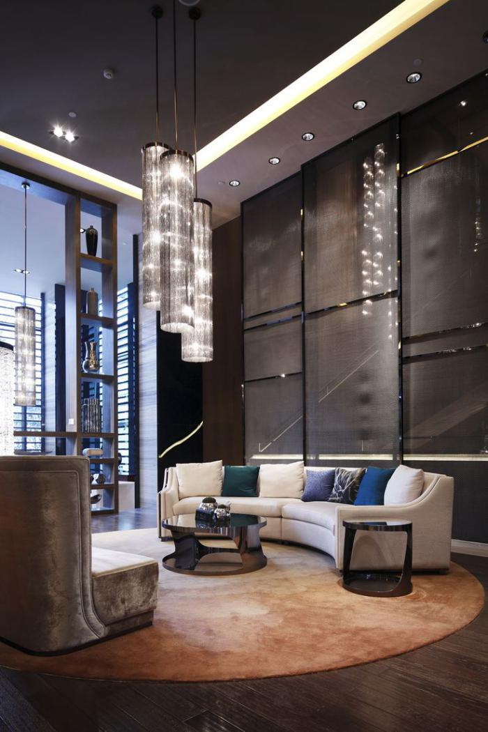 Le plafond lumineux jolis designs de faux plafonds et d - Faux plafond contemporain ...