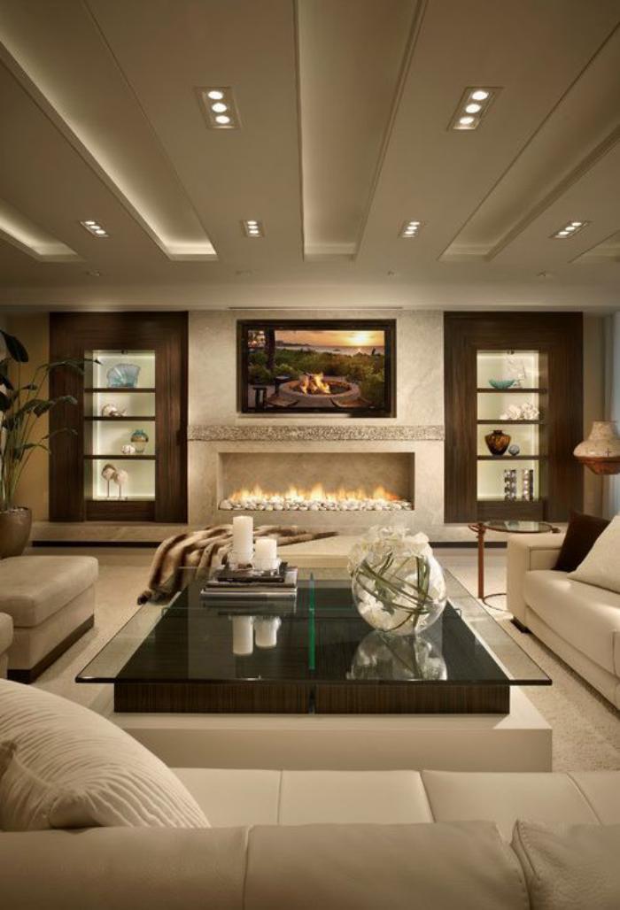 le plafond lumineux jolis designs de faux plafonds et dinterieurs modernes - Faux Plafond Salle De Bain