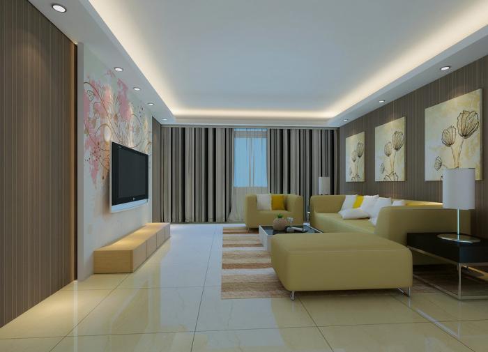 plafond-lumineux-faux-plafond-tendu-lumières-led