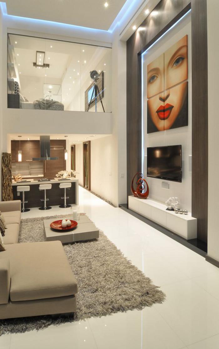 plafond-lumineux-loft-contemporain-glamoureux-mezzanine