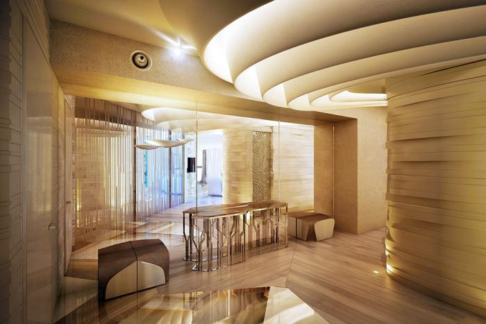 plafond-lumineux-murs-textés-plafond-spectaculaire