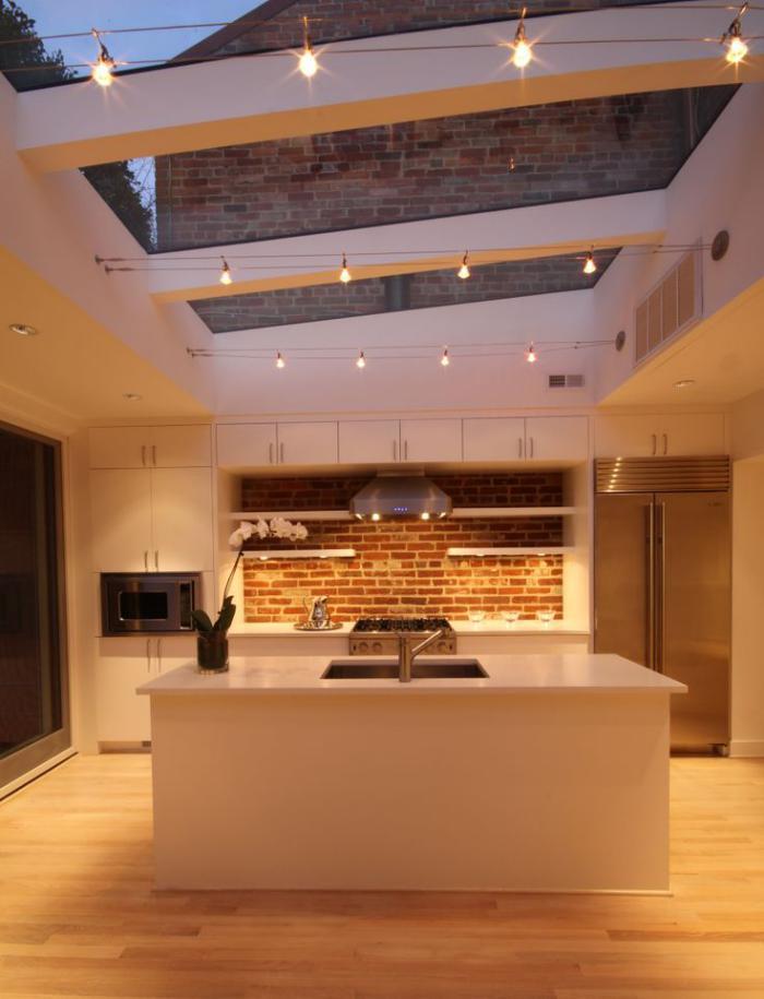 Le plafond lumineux jolis designs de faux plafonds et d - Faux plafond cuisine ouverte ...
