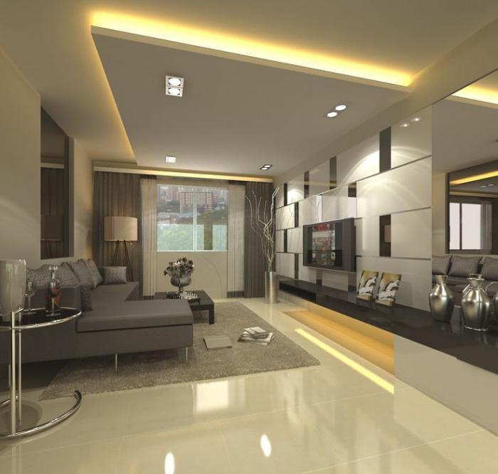 Flat Kitchen Ceiling Lights: Jolis Designs De Faux Plafonds Et D