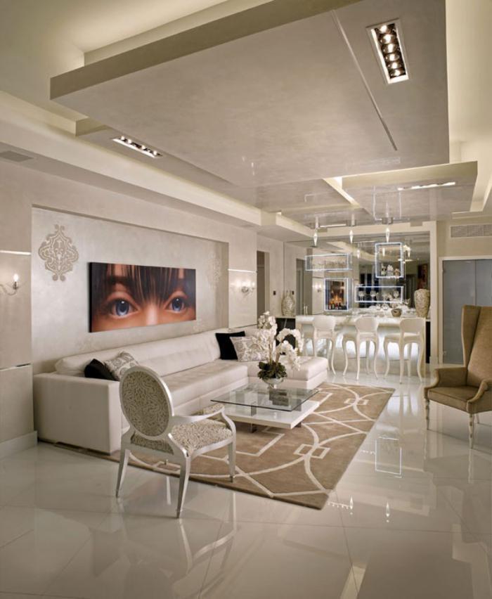 Le plafond lumineux jolis designs de faux plafonds et d for Plafond suspendu moderne