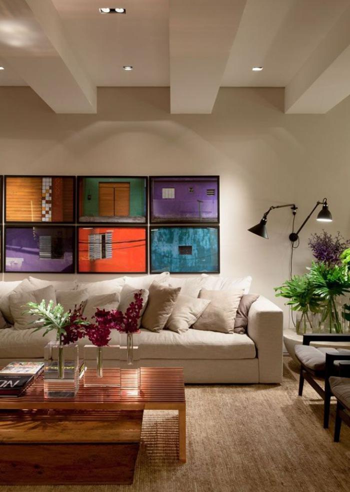 plafond-lumineux-spots-de-plafond-salle-de-séjour-superbe
