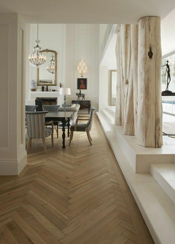 poutre-decorative-poutre-chene-clair-pour-l-appartement-d-esprit-loft-sol-en-parquet-clair