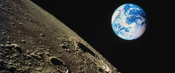 premier-pas-sur-la-lune-vol-établi-par-la-NASA-lune-vue-de-la-terre
