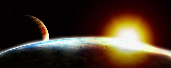 premier-pas-sur-la-lune-vol-établi-par-la-NASA-solei-couche-de-soleil-les-planetes