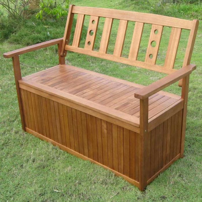 Le banc coffre de jardin belles id es pour votre jardin - Rangement bois exterieur ...