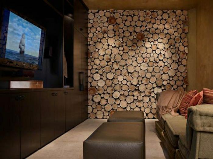 revêtement-mural-bois-lambris-mur-en-bois-rustique-mur-bois-rondes-brute