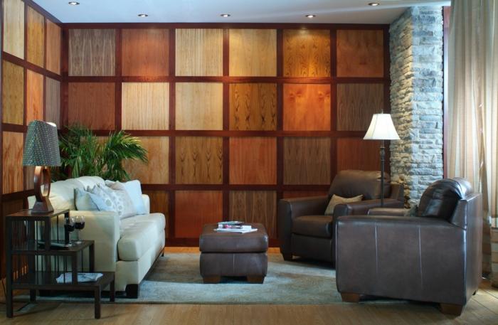revetement-mural-bois-pièce-vintage-décoration-de-mur-pleine-chambre-fauteuil-cuir