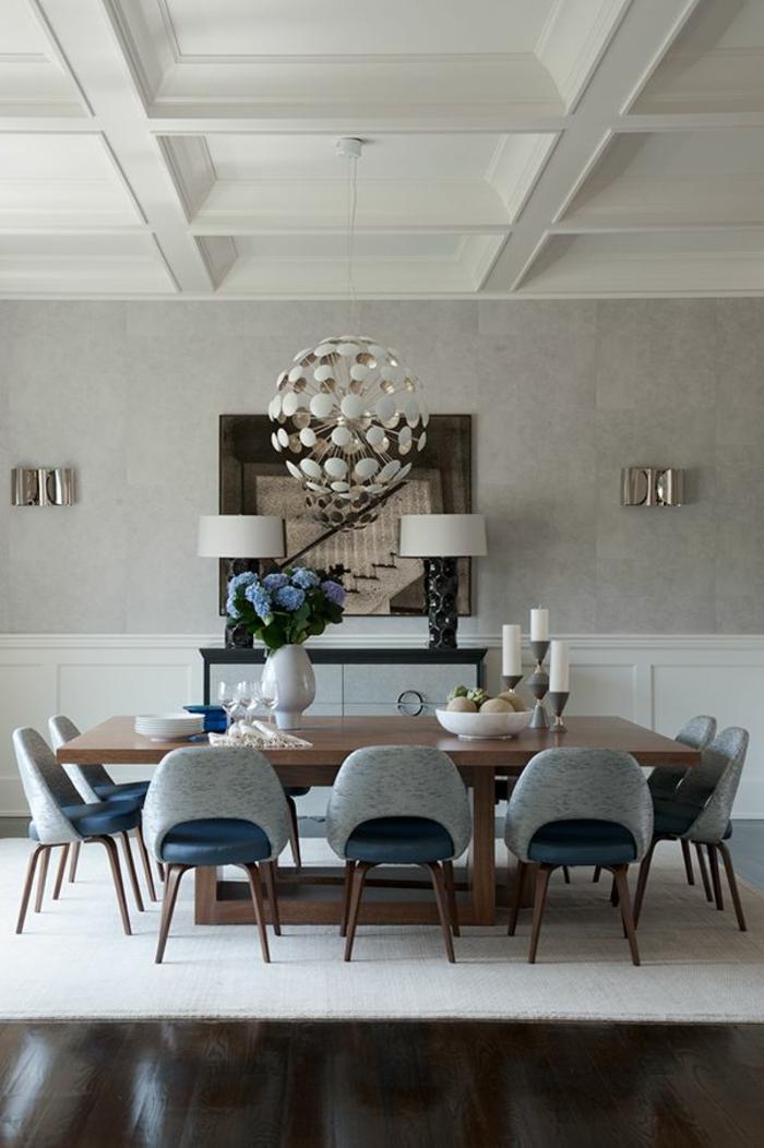 Voici la salle manger contemporaine en 62 photos for Quelle lumiere pour cuisine