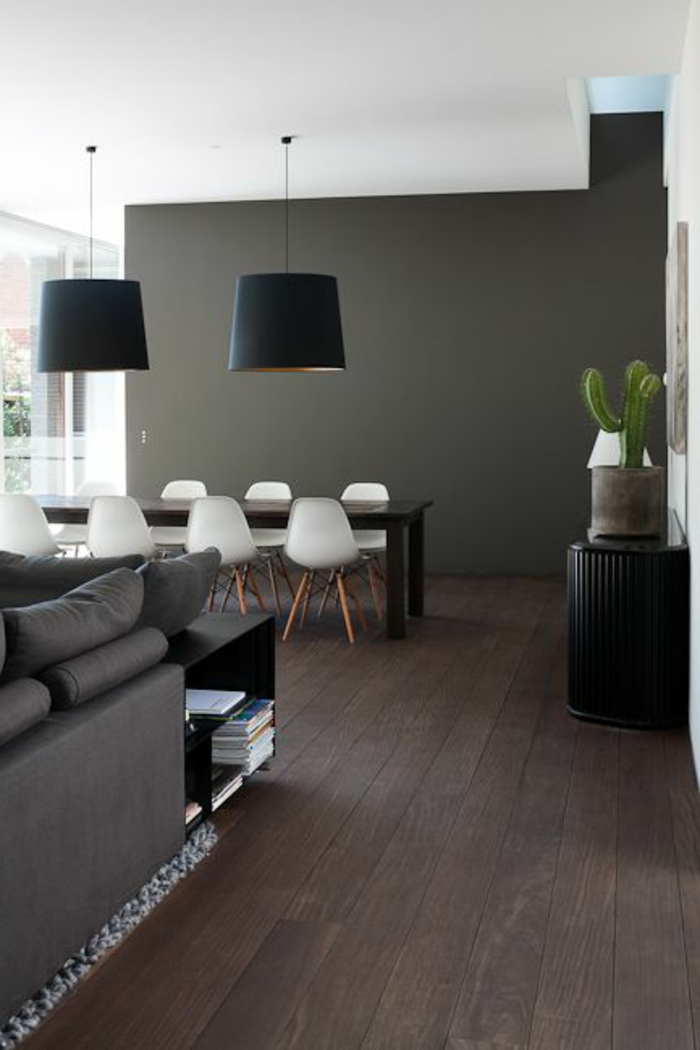Photos on pinterest for Salle a manger parquet