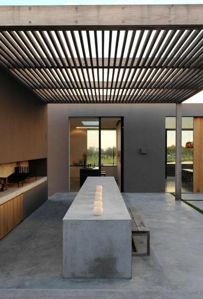 salle-a-manger-contemporaine-complete-avec-table-rectangulaire-en-beton-ciré-cuisine-d-esprit-loft
