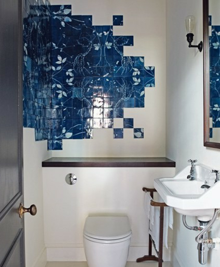 Carrelage autocollant salle de bain mur stunning feuille - Autocollant salle de bain ...