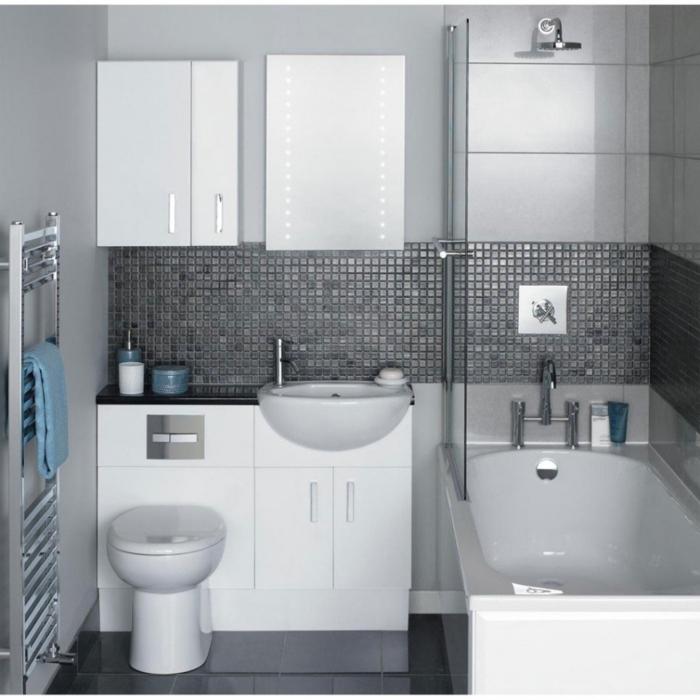 Le carrelage salle de bain quelles sont les meilleures - Carrelage salle de bain gris ...