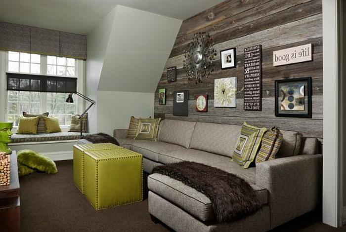salon-bien-aménagé-salle-de-séjour-revetement-mural-bois-canapé-d-angle-idée-déco