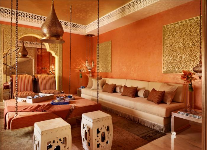 L 39 am nagement d 39 un salon marocain moderne for Decoration maison islam