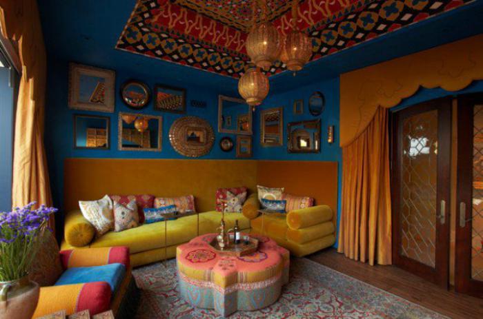 Plafonnier Style Oriental : L aménagement d un salon marocain moderne archzine