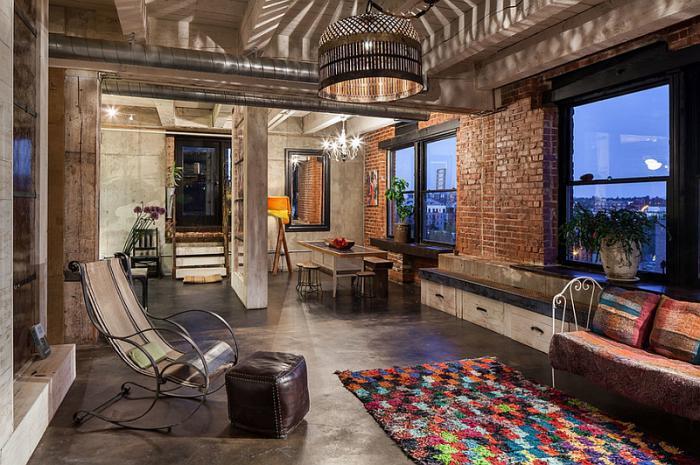 salon-marocain-moderne-salon-style-industriel-éclairage-marocain