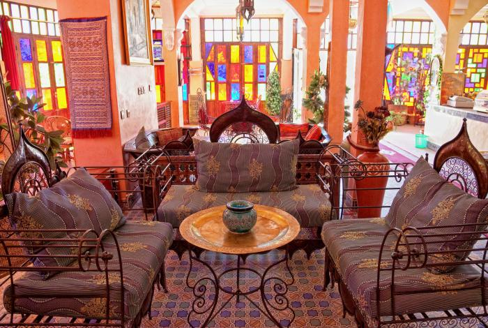 amazing salon marocain fer forge #5: salon-marocain-moderne