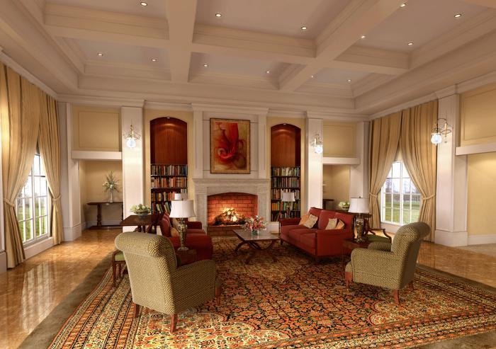 salon-marocain-moderne-un-style-distingué-faux-plafond-blanc-et-lumineux