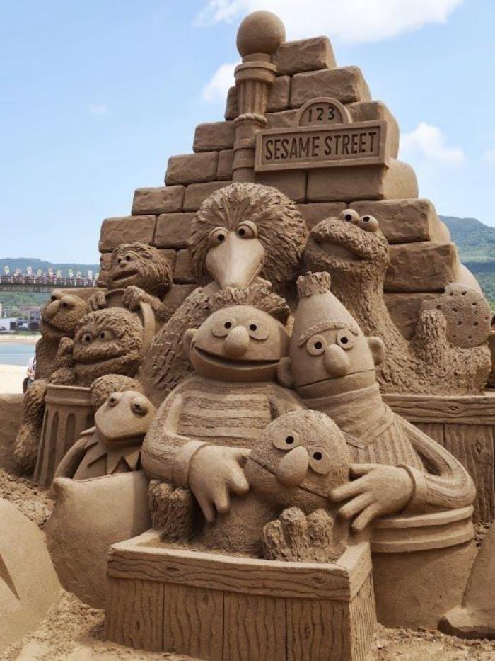 sculpture-de-sable-à-thème-films