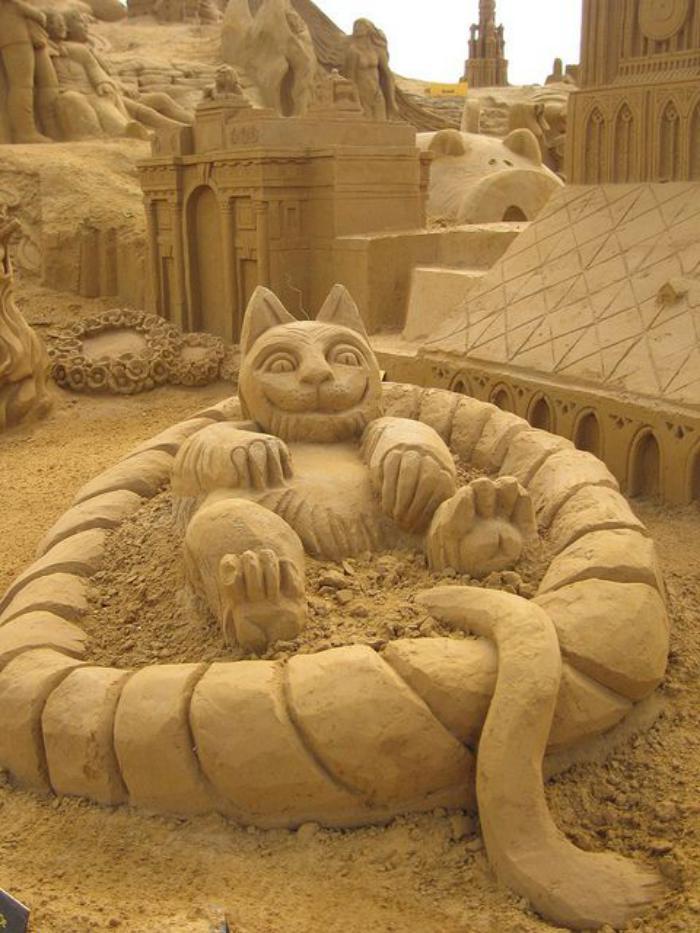 sculpture-de-sable-châteaux-et-villes-sur-sable