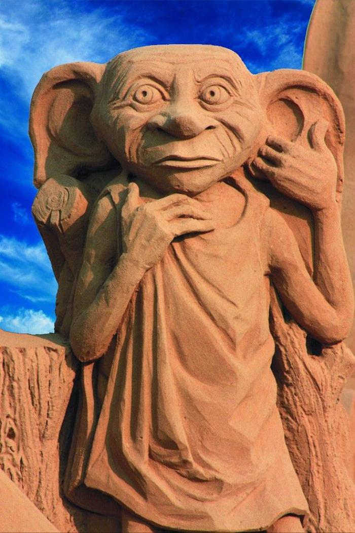 sculpture-de-sable-héros-aimés-du-cinéma