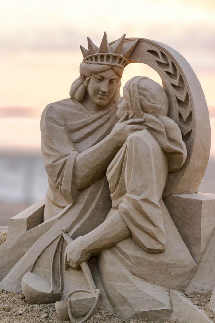 sculpture-de-sable-idée-originale-de-sculpture-sur-sable