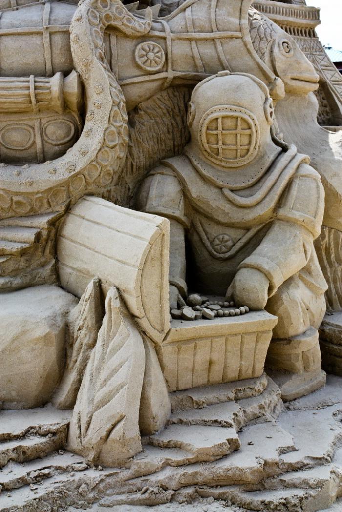 sculpture-de-sable-sous-l'eau