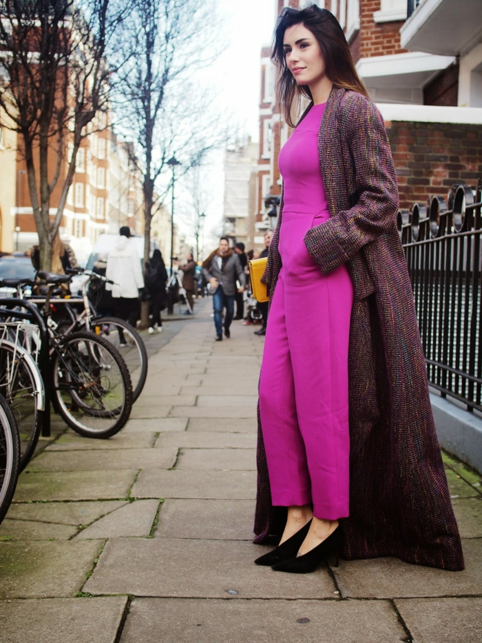 street-fashion-tendance-automne-hiver-2014-2015-idée-tenue-de-jour-en-rose-maxi-veste-resized