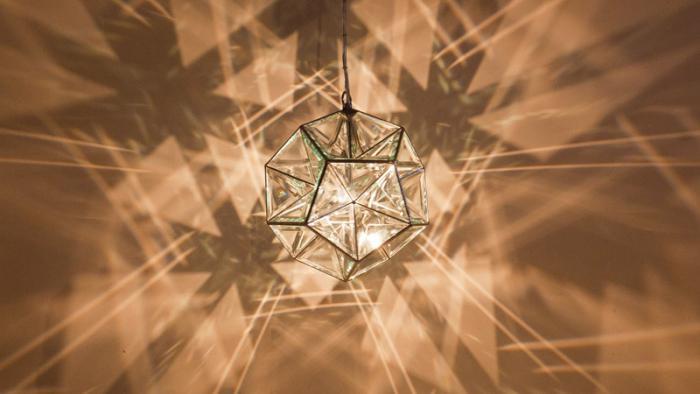 suspension-en-verre-belle-suspension-géométrique