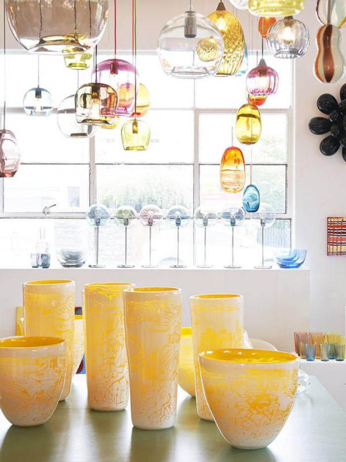 suspension-en-verre-décorer-l'intérieur-avec-des-lampes-en-verre