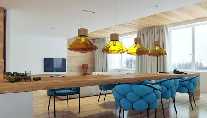 suspension-en-verre-design-d'appartement-moderne