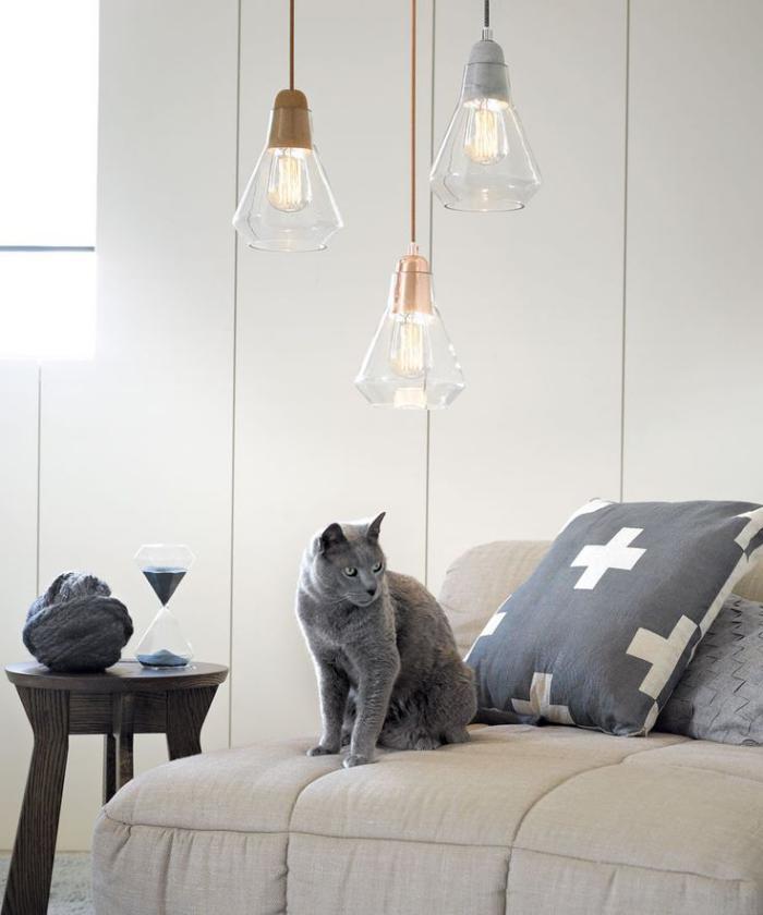 suspension-en-verre-lampes-en-verre-élégantes-sofa