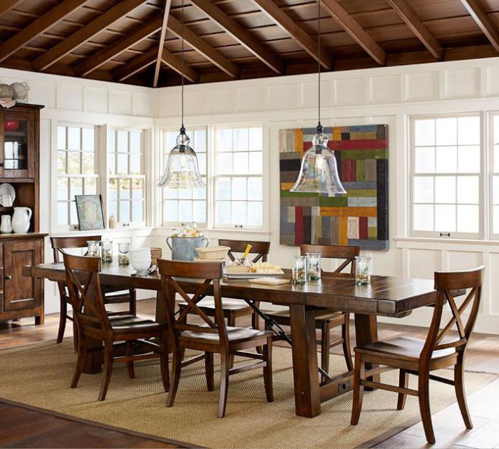 suspension-en-verre-salle-de-déjeuner-en-style-cottage