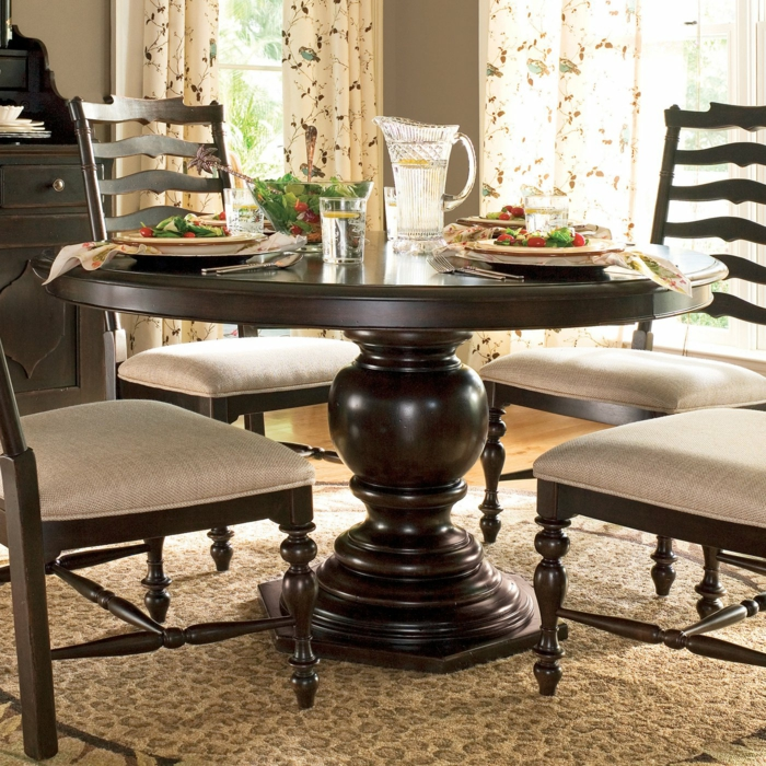 table-pliante-de-cuisine-étroite-table-ronde-à-manger-luxeuse