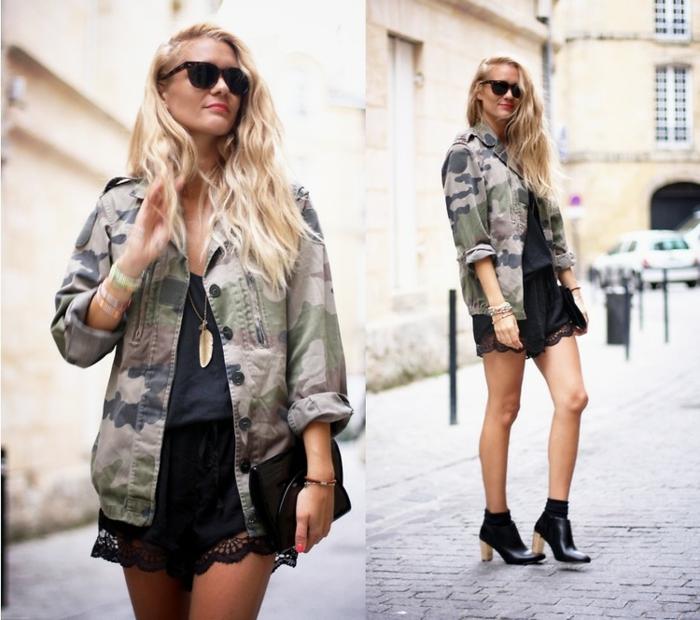 tenue-de-jour-femme-avec-le-veste-militaire-cool-idée
