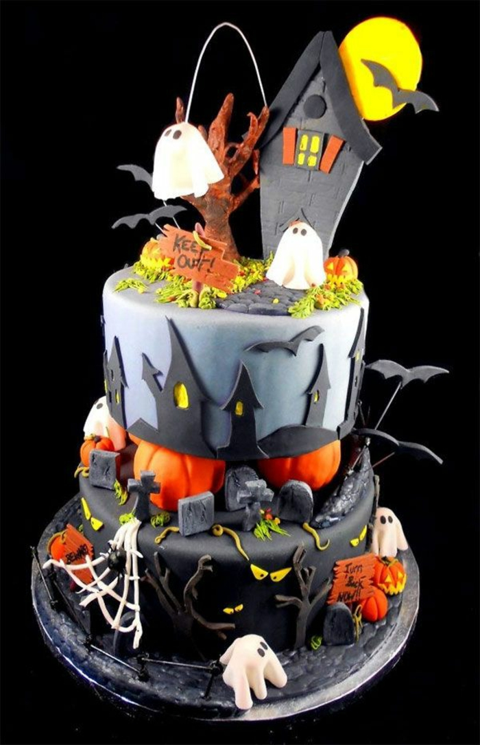 decoration halloween gateau. Black Bedroom Furniture Sets. Home Design Ideas