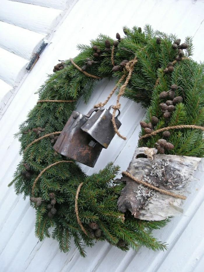 Comment incorporer la branche de sapin dans la d coration - Joli sapin de noel ...