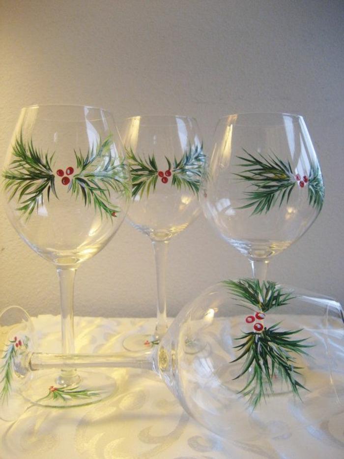 Les verres vin comment les d corez vous m mes - Idee creative pour noel ...